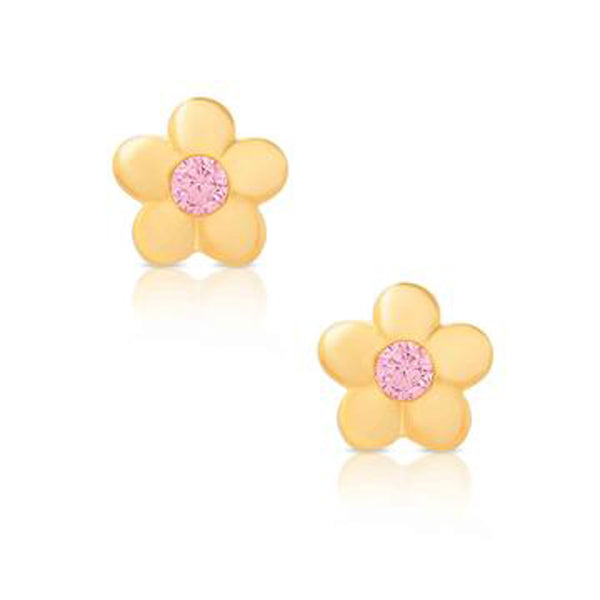 Gold Flower Earrings for Children