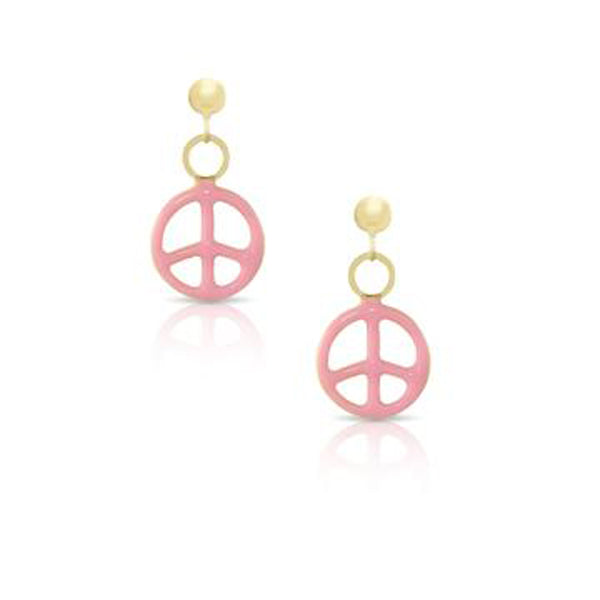 Peace Sign Earrings for Children