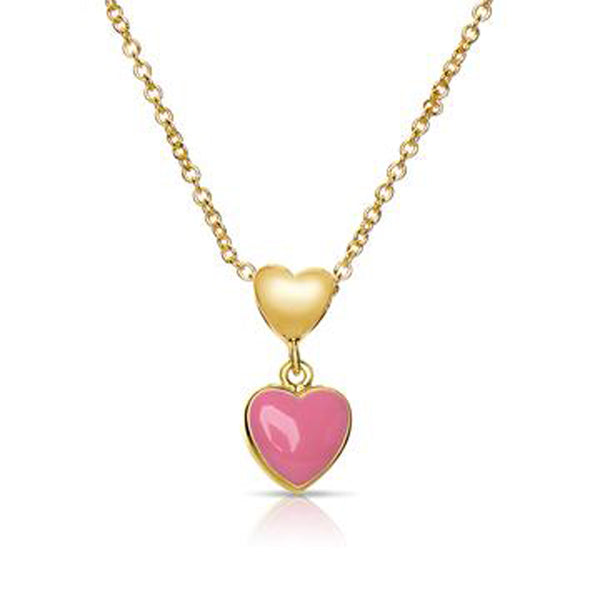 Pink Heart Necklace for Children