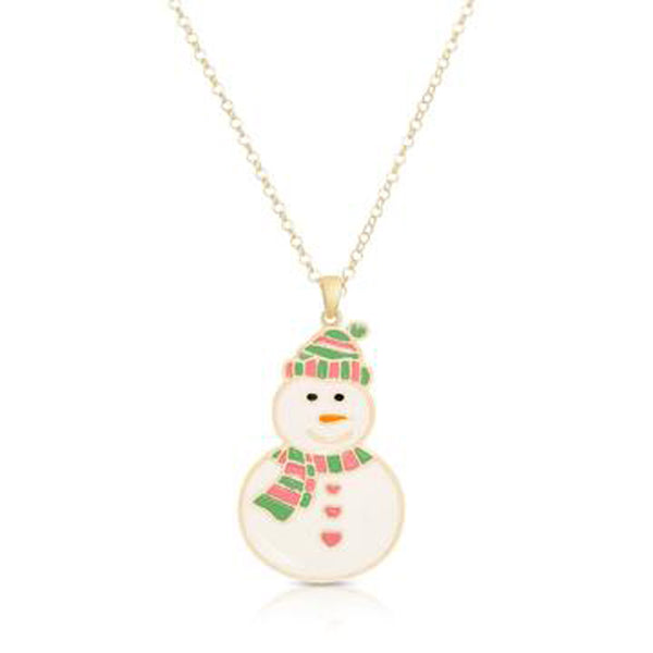 Snowman Necklace for Children