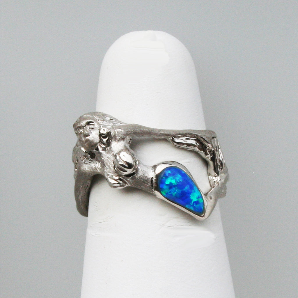 Mermaid Ring with Opal
