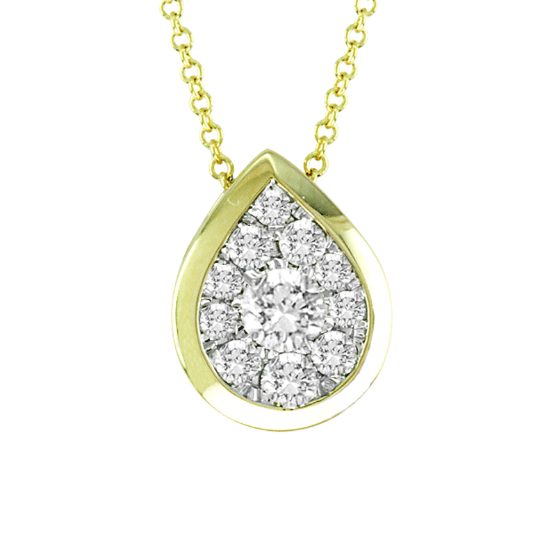 14kt Gold Pear-Shape Necklace