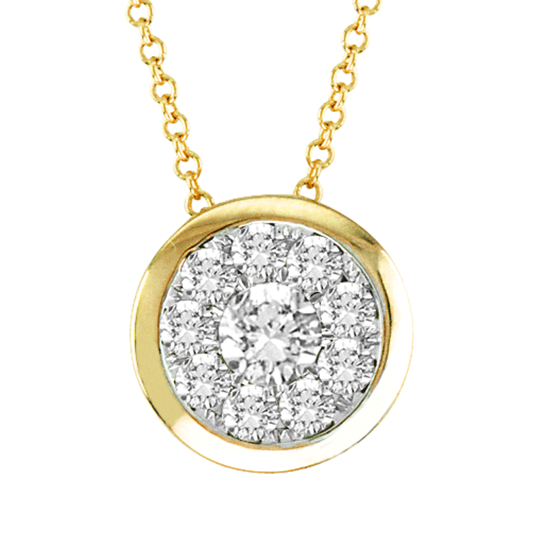 14kt Gold Round-Shape Necklace