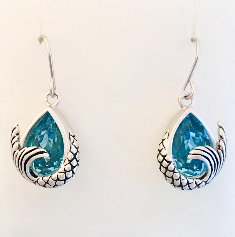 Mermaid Tail Dangle Earrings