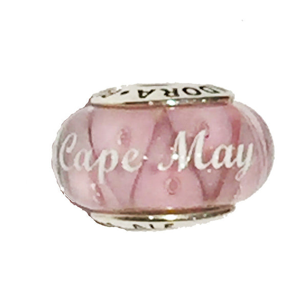 Pink Murano Glass Cape May Bead