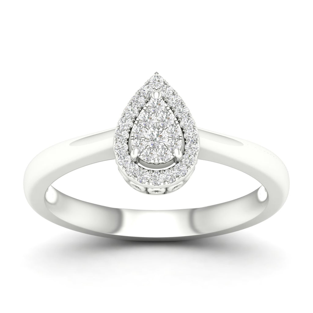 Pear-Shape Ring with .15ctTW diamonds
