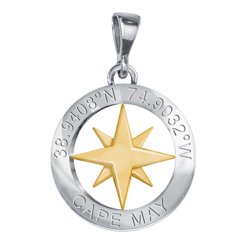 Sterling Silver Cape May Compass