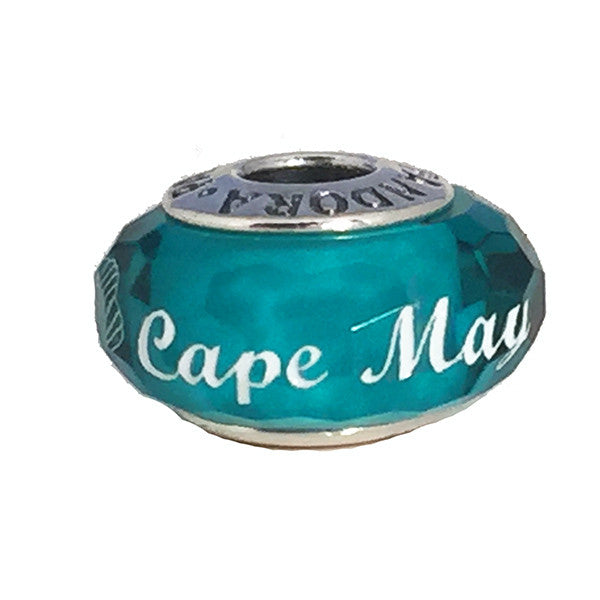 Pandora Sea-Green Murano Cape May Glass Bead with Seashell