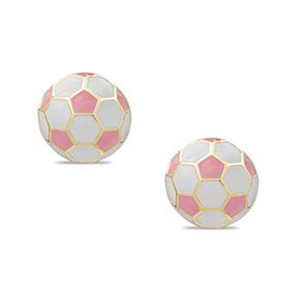 Soccer Balls Post Earrings for Children