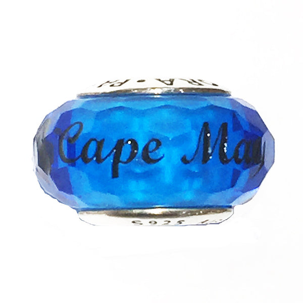 Light Blue Murano Glass Cape May Bead