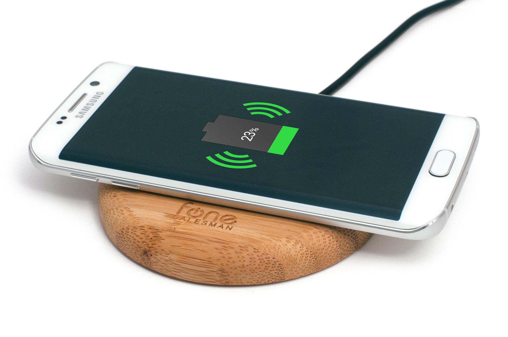 Woodpuck Bamboo Edition Qi Wireless Charging Pad
