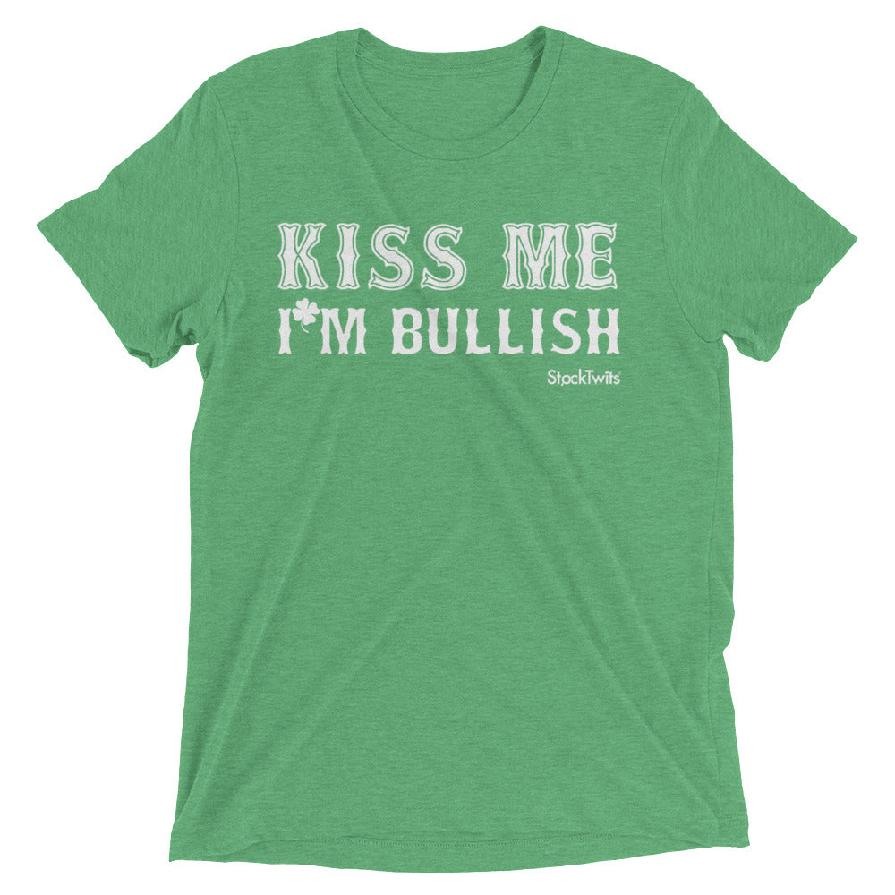 St. Patrick's Kiss Me I'm Bullish Short sleeve t-shirt