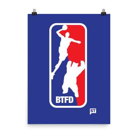 BTFD Bear Dunk 2017 Blue Photo paper poster