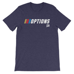 Options Racing Heather Black, Navy or Olive Short-Sleeve Unisex T-Shirt
