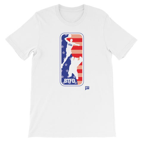4th of July USA BTFD Bear Dunk 2017 White Unisex short sleeve t-shirt