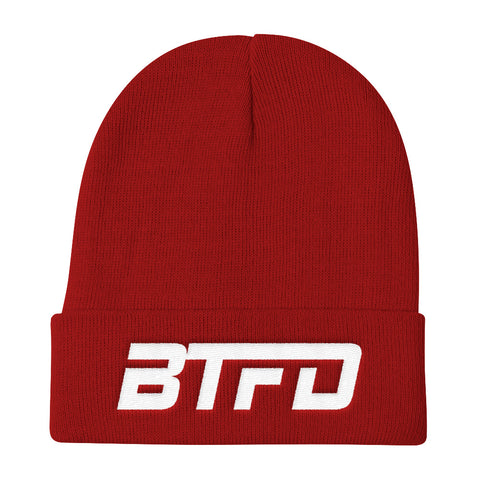 BTFD Dipcenter Black, Grey or Red Knit Beanie