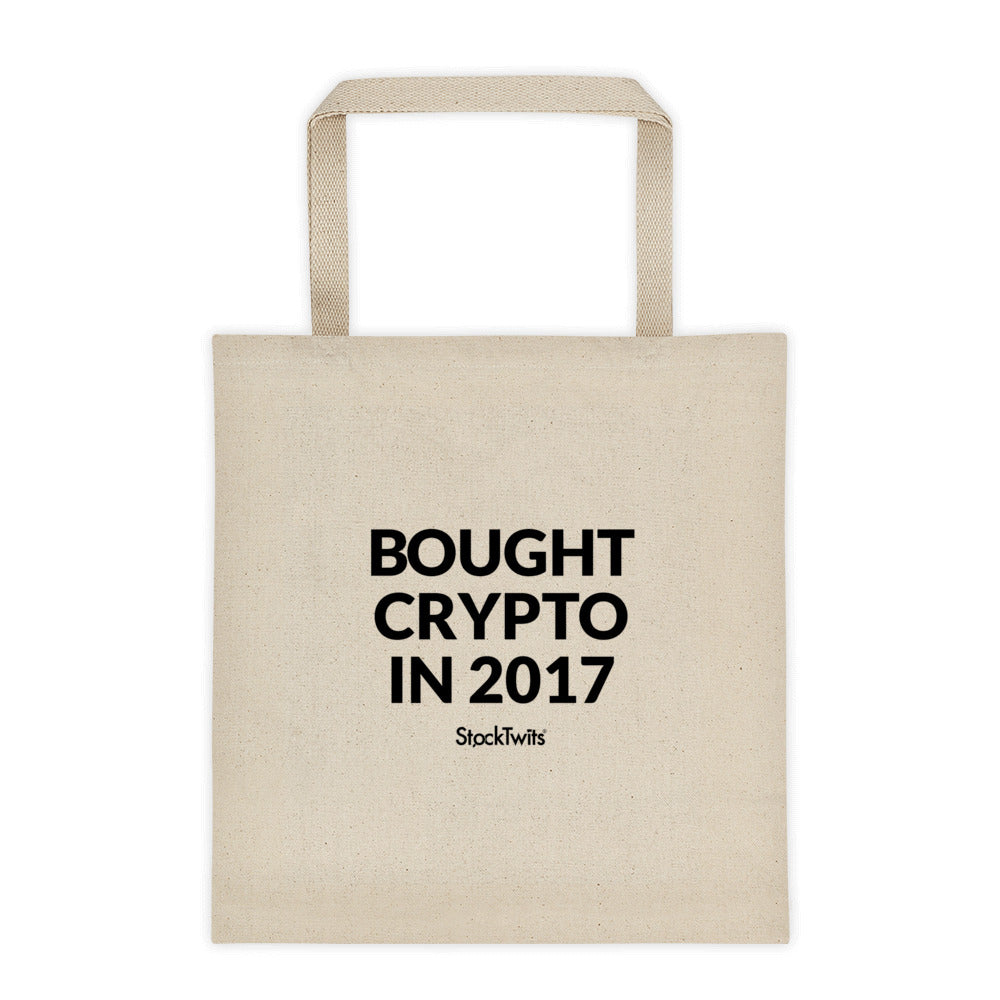 Bought Crypto in 2017 Bagholder Tote bag