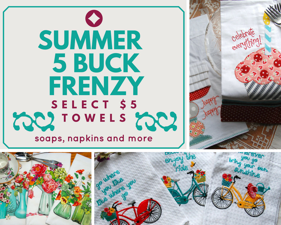 5 Buck Dish Towel Frenzy!