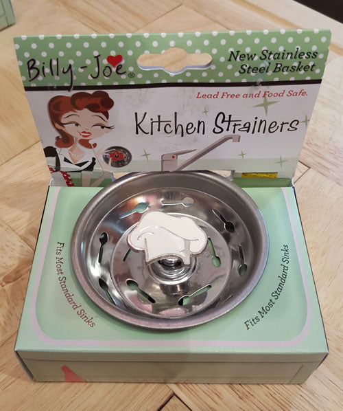 Enamel Chef Hat Stainless Steel Sink Strainer