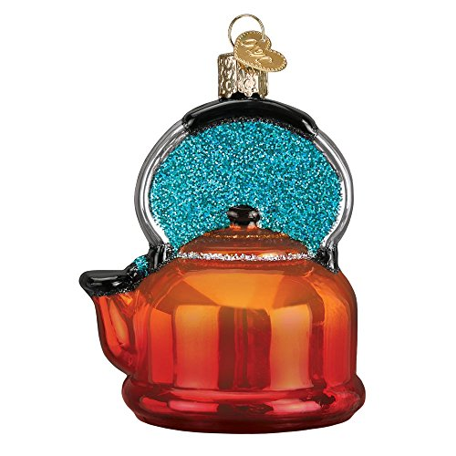 Old World Christmas Copper Tea Kettle Glass Blown Ornament