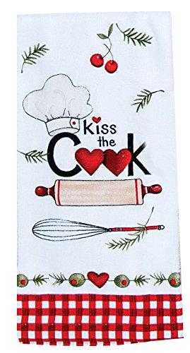 Kay Dee Designs Kiss The Cook Chef Terry Dish Towel