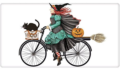 Mary Lake Thompson Halloween Witch Bike Kitchen Dish Towel