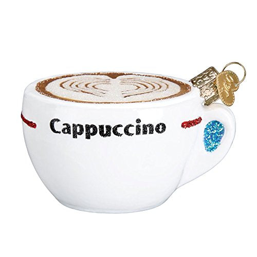 Old World Christmas Blown Glass Cappuccino Coffee Ornament