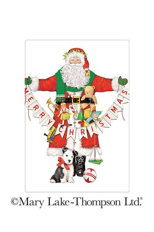 Merry Christmas Santa Banner 100% Cotton Flour Sack Dish Towel Tea Towel