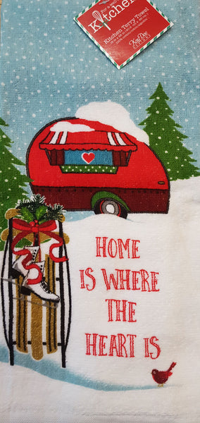 Kay Dee Designs Heart Home For Christmas Retro Camper Terry Dish Towel