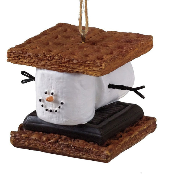 Marshmallow S'mores Sandwich Christmas Ornament