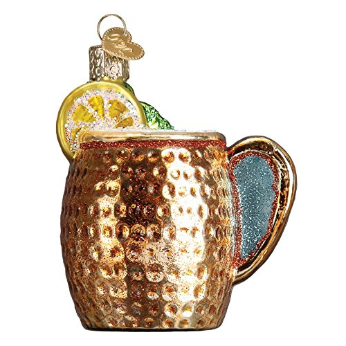 Old World Christmas Moscow Mule Mug Glass Blown Ornament