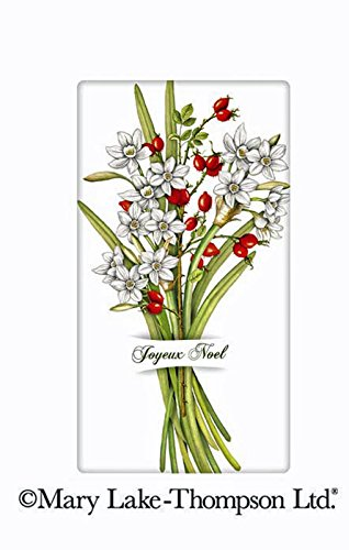 "Mary Lake Thompson Christmas Paperwhites Noel Bouquet 100% Cotton Flour Sack Dish Tea Towel 30"" x 30"""