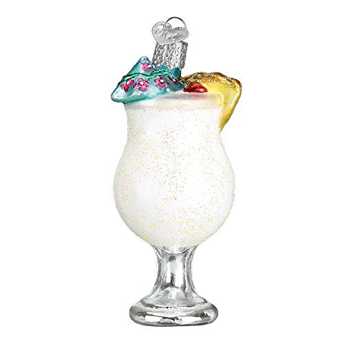 Old World Christmas Pina Colada Glass Blown Ornament