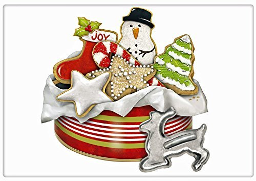 "Christmas Sugar Cookie Tin 100% Cotton Flour Sack Dish Tea Towel - Mary Lake Thompson 30"" x 30"""