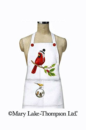 Mary Lake Thompson Christmas Ornament Cardinal Cotton Cooking Apron