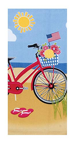 "Kay Dee Designs Beach Bike Dual Purpose Terry Kitchen Towel, 16"" x 26"", Various"
