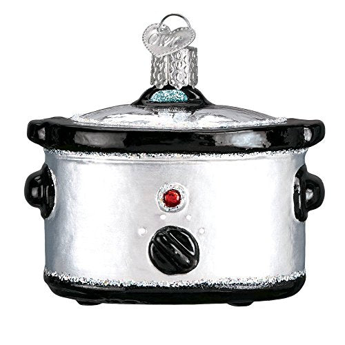 Old World Christmas Slow Cooker Crock Pot Glass Blown Ornament