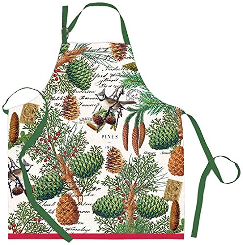 Michel Design Works Cotton Chef Apron - 4 Patterns; Lemon, Spruce, Golden Pear, Avocado