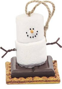 Original Chocolate S'mores Christmas Ornament - Graham Cracker S'mores