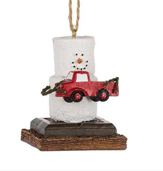 Marshmallow S'mores Original Pick Up Truck Christmas Ornament