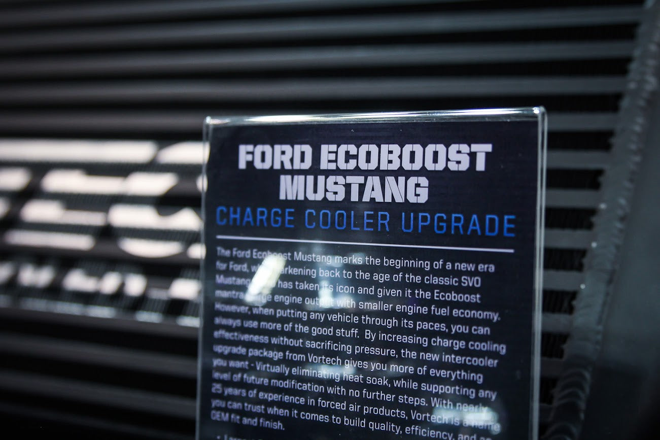Ford Ecoboost Mustang Charge Cooler Upgrade