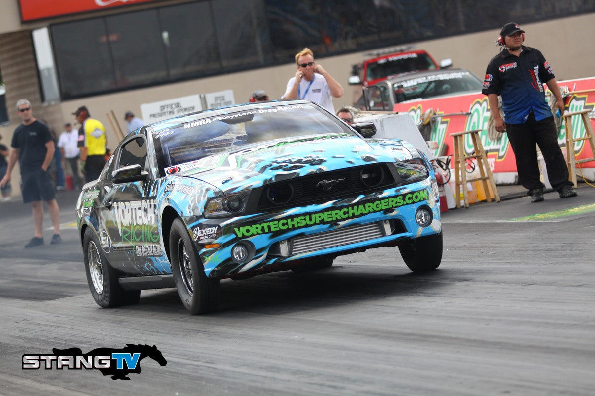 "Terry ""Beefcake"" Reeves Winning in Coyote Modified With his Vortech V-7 JT Supercharged Mustang"