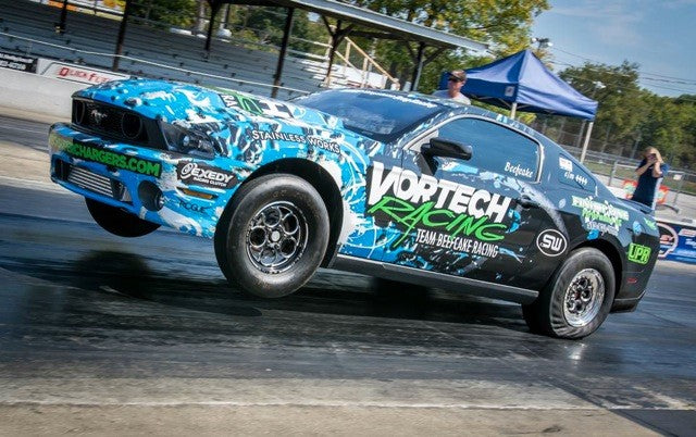 "Terry ""Beefcake"" Reeves Vortech Supercharged Mustang is the quickest and fastest car in NMRA Coyote Modified"
