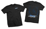 """Vortech Racing"" Design 3-Color On Black/White T-Shirt"