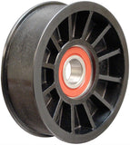 "6-Rib, 3.5"" Smooth, Flanged Idler Pulley"