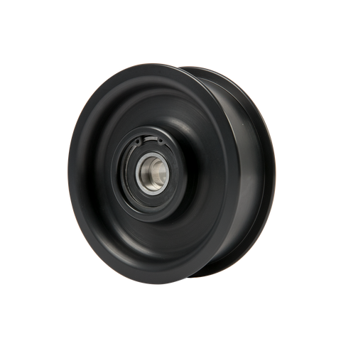 "8-Rib, 4.0"" Smooth, Flanged Idler Pulley"