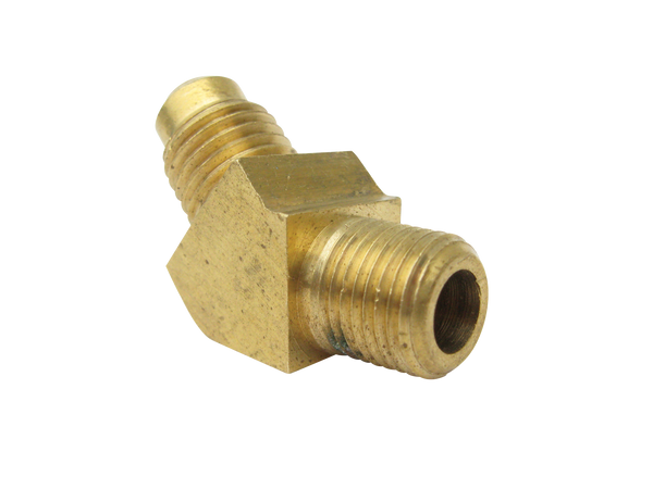 "Fitting, 1/8""NPT X 45° -4SAE Flare, Brass"