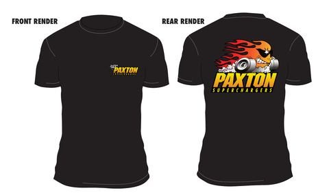 "Paxton - ""Flame Head Dude"" Design T-Shirt"
