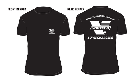 "Vortech ""V"" Logo When Performance Counts T-Shirt"