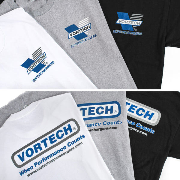 "Vortech ""When Performance Counts"" Design 3-Color T-Shirt"